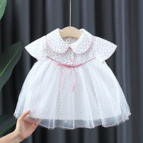 Dress Lake blue, pink female Other / other 66cm,73cm,80cm,85cm,90cm,95cm,100cm Cotton 80% other 20% summer fresh Short sleeve Broken flowers Cotton blended fabric Lotus leaf edge Class A 12 months, 3 years, 6 years, 18 months, 9 months, 6 months, 2 years Chinese Mainland Zhejiang Province Hangzhou