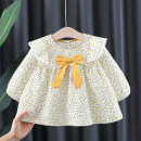 Dress Yellow, orange, pink female Other / other 66cm,73cm,80cm,85cm,90cm,95cm,100cm,105cm Cotton 95% polyurethane elastic fiber (spandex) 5% spring and autumn Korean version Long sleeves Broken flowers cotton A-line skirt 12 months, 6 months, 9 months, 18 months, 2 years, 3 years, 4 years