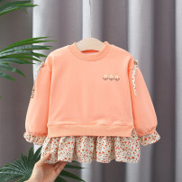 Sweater / sweater Peyilean Pink, orange female 66cm,73cm,80cm,85cm,90cm,95cm,100cm,105cm spring and autumn nothing Korean version Socket Plush No model Cotton blended fabric Broken flowers Polyester fiber 67.1% cotton 31.2% polyurethane elastic fiber (spandex) 1.7% other