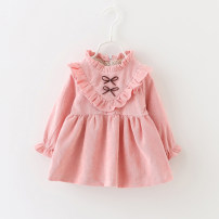Dress female Other / other 66cm,73cm,80cm,85cm,90cm,95cm,100cm,105cm Cotton 85% polyurethane elastic fiber (spandex) 15% spring and autumn fresh Long sleeves other Cotton blended fabric Irregular 12 months, 6 months, 9 months, 18 months, 2 years, 3 years