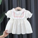 Dress Yellow, pink female Other / other 66cm,73cm,80cm,85cm,90cm,95cm,100cm Cotton 80% other 20% summer princess Short sleeve Broken flowers cotton Splicing style 12 months, 3 years, 18 months, 9 months, 6 months, 2 years Chinese Mainland