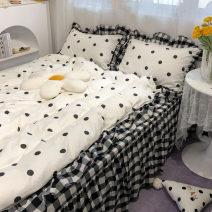 Bedding Set / four piece set / multi piece set cotton other Cartoon animation 133x72 Miss ziluo's house cotton 4 pieces 40 Romantic house full of white, romantic house full of pink, romantic house full of blue Fitted sheet, sheet and skirt Qualified products Princess style 100% cotton twill Bed skirt