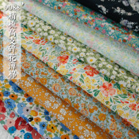 Fabric / fabric / handmade DIY fabric cotton Loose shear piece Plants and flowers printing and dyeing clothing Countryside POPOHOUSE 100%