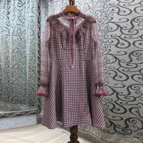 Dress Spring 2021 Red check S,M,L Mibilan 30% and below other