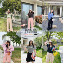 Women's large Summer 2020, spring 2020 Black pants, leather pink pants, khaki pants, black pants, leather pink pants, khaki pants Big L, big XL, big M, big 2XL, big 3XL trousers singleton  commute easy moderate Solid color Korean version other other fold other Other / other 25-29 years old pocket