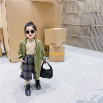Plain coat neutral 80cm,90cm,100cm,110cm,120cm,130cm Off white, green spring and autumn Korean version Zipper shirt There are models in the real shooting No detachable cap Solid color other other Cotton 100%