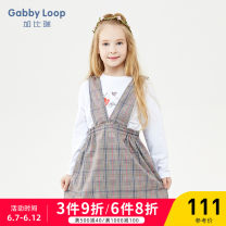 Dress spring and autumn leisure time other Strapless skirt lattice Class B Spring of 2019 female Gabby loop Polyester 98% polyurethane elastic fiber (spandex) 2% 4 years old, 5 years old, 6 years old, 7 years old, 8 years old, 9 years old, 10 years old Strapless skirt GQD91088 Pink and grey check