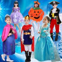 Children's performance clothes Pirate set, Prince set, Anna set, Asha set, witch orange, witch black purple neutral 100cm,110cm,120cm,130cm,140cm,150cm,160cm Pretty children 2, 3, 4, 5, 6, 7, 8, 9, 10, 11