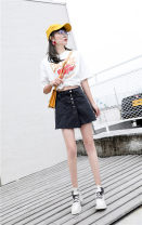 Jeans Summer of 2019 black 26 (1 foot 9 waist), 27 (2 foot 1 waist), 28 (2 foot 2 waist), 30 (2 foot 3 waist), 31 (2 foot 4 waist), 32 (2 foot 5 waist), 33 (2 foot 6 waist), 34 (2 foot 7 waist), 36 (2 foot 8 waist), 38 (2 foot 9 waist), 40 (3 foot waist) shorts High waist Straight pants Thin money