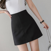 skirt Spring 2021 S,M,L,XL Black, apricot, green, yellow Short skirt commute High waist A-line skirt Solid color Type A 18-24 years old XX 51% (inclusive) - 70% (inclusive) other other zipper Korean version 401g / m ^ 2 (inclusive) - 500g / m ^ 2 (inclusive)
