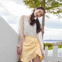 Fashion suit Summer 2020 S. M, l, average size Sweet corn apricot top (in stock), yellow peach skirt (in stock), ivory suspender / no return, no change (in stock) Uncle Peter Pan 91022T07 96% and above polyester fiber