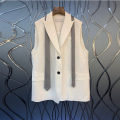 Vest Summer 2021 White, black S,M,L routine tailored collar other 25-29 years old 96% and above cotton