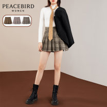 skirt Winter 2020 S M L XL Short skirt Sweet High waist A-line skirt Type A 25-29 years old A7GEA4303 More than 95% Peacebird polyester fiber Polyester 97.7% polyurethane elastic fiber (spandex) 2.3% Same model in shopping mall (sold online and offline) college