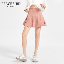 skirt Spring 2020 S M L XL Brick red Short skirt High waist Pleated skirt 25-29 years old 30% and below Peacebird Lycra Lycra Same model in shopping mall (sold online and offline)