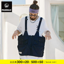 Vest / vest Youth fashion Panmax / PAN Max M L XL 2XL 3XL 4XL 5XL Navy Blue Other leisure easy Vest routine Four seasons Large size tide Solid color Straight hem Polyester 100% other Side seam pocket Spring 2021 Pure e-commerce (online only)