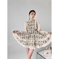 Dress Spring 2021 Embroidery Daisy S,M,L Middle-skirt singleton  Long sleeves Big swing 31% (inclusive) - 50% (inclusive)