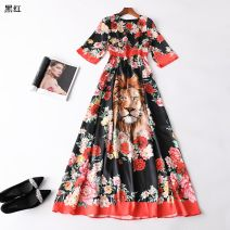 Dress Summer 2020 Black red, black blue S,M,L,XL,XXL Other / other 31% (inclusive) - 50% (inclusive)