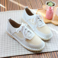 Low top shoes 35 36 37 38 39 40 Other / other Beige pink light grey black Round head Flat heel PU Midmouth Low heel (1-3cm) cloth Spring of 2018 Frenulum Mori Adhesive shoes Youth (18-40 years old) TPR (tendon) cloth daily nine thousand eight hundred and sixty