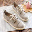 Low top shoes 35 36 37 38 39 40 Other / other Beige Khaki Round head Square heel Suede Midmouth Low heel (1-3cm) cloth Spring of 2018 Frenulum Mori