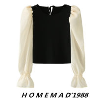 Wool knitwear Autumn 2020 S,M,L Black 20124 Long sleeves Socket cotton 31% (inclusive) - 50% (inclusive) Regular routine street Lotus leaf sleeve Europe and America