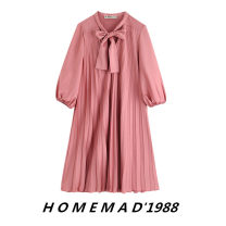 Dress Autumn of 2019 Pink 9680 XS,S,M,L Mid length dress singleton  Long sleeves street Loose waist Solid color Socket A-line skirt bishop sleeve Others 31% (inclusive) - 50% (inclusive) Europe and America