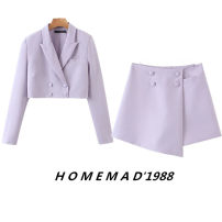 suit Spring 2021 Top 9401, shorts 9402 S,M,L Long sleeves have cash less than that is registered in the accounts Straight cylinder tailored collar double-breasted street puff sleeve Solid color 31% (inclusive) - 50% (inclusive) Cellulose acetate