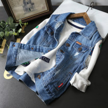 Vest neutral blue 110cm,120cm,130cm,140cm,150cm,160cm Other / other spring and autumn routine No model Single breasted leisure time Denim ZQ0640 Class B Chinese Mainland Three, four, five, six, seven, eight, nine, ten, eleven, twelve