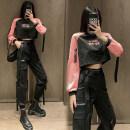 Casual suit Autumn 2020 Black powder, black trousers, belt S,M,L,XL,2XL 18-25 years old 0650+0682 31% (inclusive) - 50% (inclusive) cotton