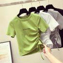 T-shirt 539 * GREEN 539 * white 539 * BLACK M L XL XXL Summer of 2019 Short sleeve Crew neck Self cultivation have cash less than that is registered in the accounts routine commute polyester fiber 86% (inclusive) -95% (inclusive) 18-24 years old Korean version youth Letter solid color xys539