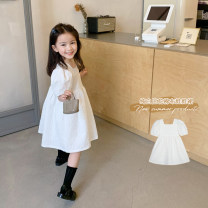 Dress White, white second batch female No.7 Tong Cang 80cm, 90cm, 100cm, 120cm, 130cm, 140cm, 150cm, 110cm (model size) Other 100% summer princess Short sleeve Solid color other other SKC2032 Two, three, four, five, six, seven, eight, nine