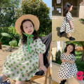 Dress Black, green polka dot dress, second batch of green polka dot dress, second batch of Black Polka Dot Dress female No.7 Tong Cang 80cm, 90cm, 100cm, 120cm, 130cm, 140cm, 150cm, 110cm (model size)) Other 100% summer other Short sleeve other other SKD2128