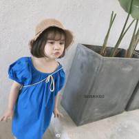 Dress Blue Beige No.7 Tong Cang female 80cm 90cm 100cm 110cm 120cm 130cm 140cm Other 100% summer SKW0060