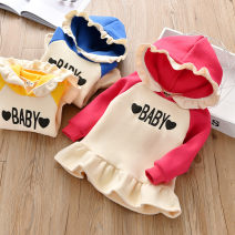 Sweater / sweater Zhou dada Rose, yellow, blue female 90cm,100cm,110cm,120cm,130cm winter No detachable cap leisure time Socket routine No model other other Class B