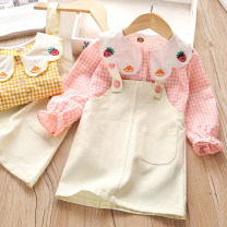 suit Zhou dada Yellow, pink 90cm,100cm,110cm,120cm,130cm female spring and autumn Korean version Long sleeve + skirt 2 pieces routine No model Single breasted nothing other other Class B Other 100% 18 months, 2 years old, 3 years old, 4 years old, 5 years old, 6 years old Chinese Mainland