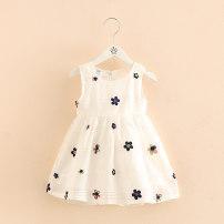 Dress white female Zhou dada 90cm,100cm,110cm,120cm,130cm,140cm Other 100% summer princess Skirt / vest Broken flowers other Splicing style Class B 18 months, 2 years old, 3 years old, 4 years old, 5 years old, 6 years old