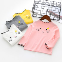 T-shirt White, yellow, gray, pink Zhou dada 100cm,110cm,120cm,130cm,140cm female spring and autumn Long sleeves leisure time No model nothing other other Class B 18 months, 2 years old, 3 years old, 4 years old, 5 years old, 6 years old, 7 years old Chinese Mainland