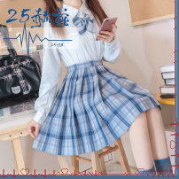 skirt Spring 2021 S,M,L,XL 25 Hz 43cm Mid length dress Sweet Natural waist Pleated skirt lattice Type H 18-24 years old 30% and below other other 401g / m ^ 2 (inclusive) - 500g / m ^ 2 (inclusive)