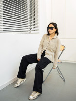 sweater Spring 2021 S,M,L Apricot Long sleeves Cardigan singleton  Regular Cashmere 95% and above Regular street routine Solid color Straight cylinder Tang Town DZSJ17173 Cashmere Single breasted