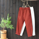 Casual pants White, black, dark green, brick red M, L Autumn 2020 Ninth pants Straight pants Natural waist commute routine 25-29 years old 96% and above yoko girl literature pocket cotton