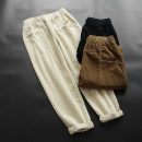 Casual pants L,XL Spring 2021 trousers Haren pants Natural waist commute routine 30-34 years old 81% (inclusive) - 90% (inclusive) yoko girl corduroy Korean version pocket cotton