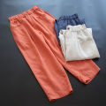 Casual pants M, L Spring 2021 Ninth pants Haren pants Natural waist commute routine 30-34 years old 51% (inclusive) - 70% (inclusive) yoko girl hemp Simplicity pocket hemp
