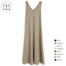 Dress Spring 2021 Off white, gray, black, ginger, oatmeal, Retro Blue, Faru red, willow green Average size longuette singleton  Sleeveless commute V-neck Loose waist Solid color Socket A-line skirt camisole 25-29 years old Type A Retro thread 6K30 31% (inclusive) - 50% (inclusive) knitting other