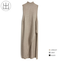 Dress Spring 2021 Black, cat grey, oatmeal Average size longuette singleton  Sleeveless commute Half high collar High waist Solid color Socket Irregular skirt other Others 25-29 years old Type H Retro Thread, asymmetric 6W76 31% (inclusive) - 50% (inclusive) other other