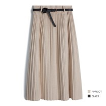 skirt Spring 2021 Average size longuette Retro High waist Pleated skirt Solid color Type A 25-29 years old 31% (inclusive) - 50% (inclusive) other other thread