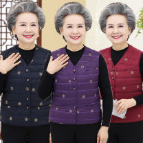 Vest Autumn of 2018 Purple, Navy, red have cash less than that is registered in the accounts V-neck Versatile Single breasted