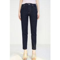 Casual pants Light blue XS,S,M,L,XL,2XL Spring 2021 Ninth pants Pencil pants Natural waist commute routine 91% (inclusive) - 95% (inclusive) Xijia Simplicity cotton