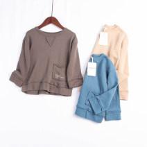 Sweater / sweater MOfEA MOCER Blue, khaki, gray neutral 80cm,90cm,100cm,110cm,120cm,130cm spring and autumn nothing No model cotton Solid color Cotton liner