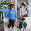 Sweater / sweater Other / other Blue, gray, green male 80cm,90cm,100cm,110cm,120cm,130cm,140cm spring and autumn No detachable cap Korean version Socket routine There are models in the real shooting other other