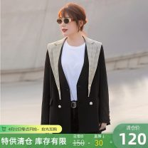 Women's large Winter 2020 Classic black stock (no return, no exchange) Large XL, 2XL, 3XL, 4XL, 5XL, 6xl suit singleton  Sweet easy moderate Cardigan Long sleeves lattice Medium length Polyester, others TA010004 MS she / mu Shan Shiyi 25-29 years old Button 96% and above college