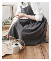 apron Charcoal, oats, naked powder Korean version Solid color